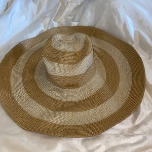 Calvin Klein sun hat Striped shimmery one size
